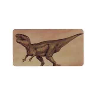 Vintage Giganotosaurus Dinosaur, Carnivore Address Label