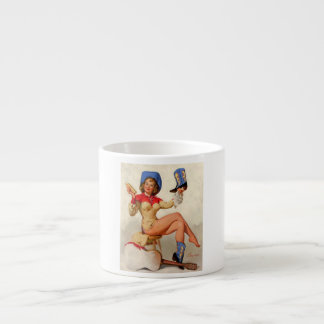 Vintage Gil Elvgren Boot Shine Country Pin UP Girl Espresso Mug