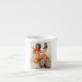 Vintage Gil Elvgren Boot Shine Country Pin UP Girl Espresso Mug