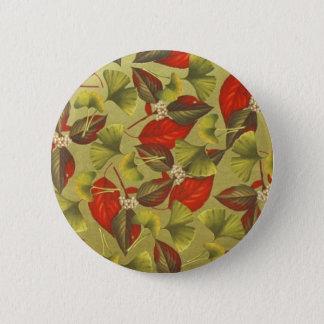 Vintage Ginkgo 2 Inch Round Button