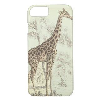 vintage giraffe iphone iPhone 7 case