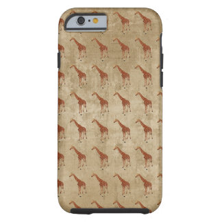 Vintage Giraffe Patterns iPhone 6 case Tough iPhone 6 Case