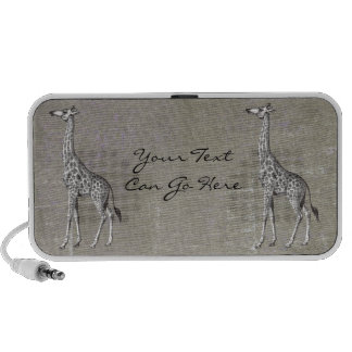 Vintage Giraffe Portable Speaker
