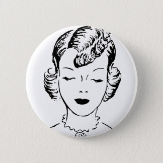 VIntage Girl 2 Inch Round Button