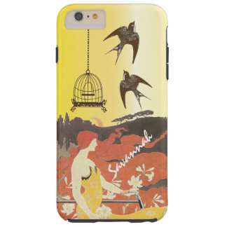 Vintage Girl Birds Birdcage Bike Iphone Case