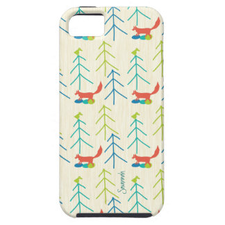 Vintage Girl Bright Colors Fox Pattern Iphone 5 Case For The iPhone 5