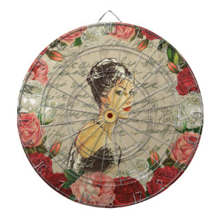 Vintage girl dartboards