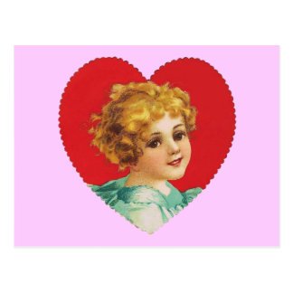Vintage Girl in Heart #2 Postcard