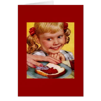 Vintage Girl & Jelly Sandwich Card