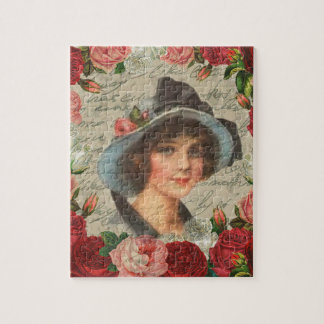 Vintage girl jigsaw puzzle