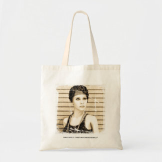 Vintage Girl, Old Photo Effect Tote Bags