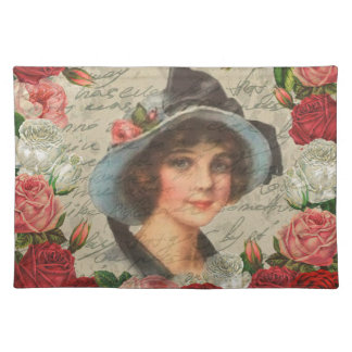 Vintage girl placemat