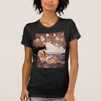 Vintage Girl Reading Under a Tree T-Shirt