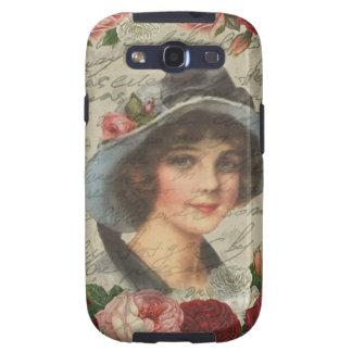 Vintage girl samsung galaxy SIII case