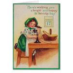 Vintage Girl Telephone St Patrick's Day Card