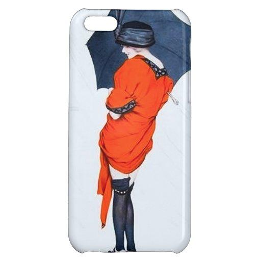 Vintage Girl With Umbrella iPhone 5 Case