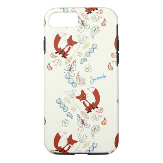 Vintage Girl Woodland Animals Fox Pattern Iphone 5 iPhone 7 Case