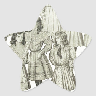 Vintage Girls Dresses, Canadian Catalog 1907 Star Sticker
