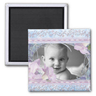 Vintage & Girly Frame Add Photo Magnet