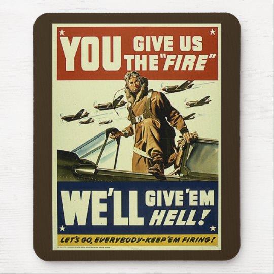 Vintage Give'em Hell Mousepad