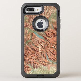 Vintage Glacier National Park Map OtterBox Defender iPhone 7 Plus Case