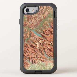 Vintage Glacier National Park Map OtterBox Defender iPhone 8/7 Case