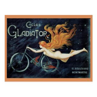 Vintage Gladiator Cycles, Victorian Art Nouveau Postcard