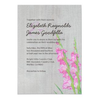 Vintage Gladiolus Wedding Invitations