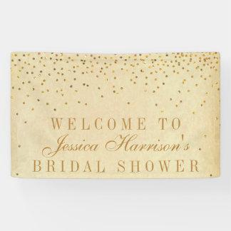 Vintage Glam Gold Confetti Bridal Shower Banner