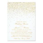 "Vintage Glam Gold Confetti Wedding Shower 5"" X 7"" Invitation Card"