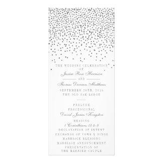 Vintage Glam Silver Confetti Wedding Program Cards Rack Card
