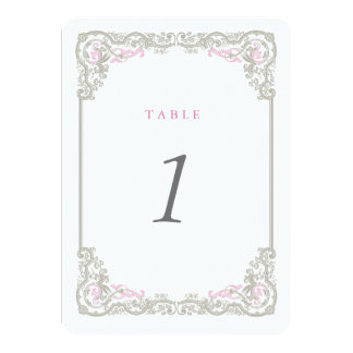 Vintage Glam Table Number Cards