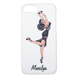 Vintage Glamor Girl, Brunette Blombshell Lingerie iPhone 7 Case