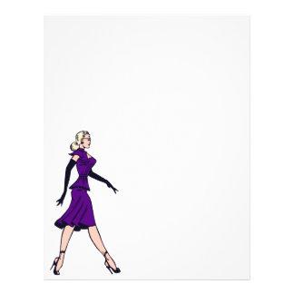 Vintage Glamor Girl Retro Blonde Pinup Office Lady Flyer Design