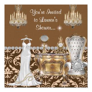 VINTAGE GLAMOUR Bridal Shower INVITATIONS