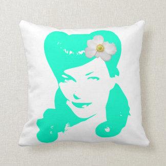 Vintage Glamour Girl Throw Pillow