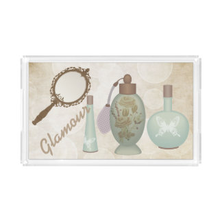 Vintage Glamour Perfumes Serving Tray
