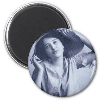 Vintage Glamour Portrait 2 Inch Round Magnet