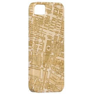 Vintage Glasgow City Street Map Case