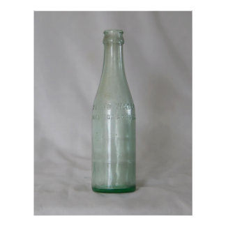 Vintage Glass Bottle Poster