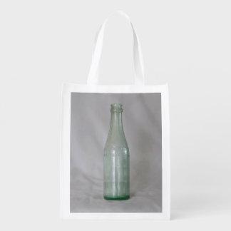 Vintage Glass Bottle Reusable Grocery Bag