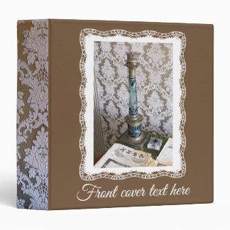 Vintage glass candleholder 3 ring binder
