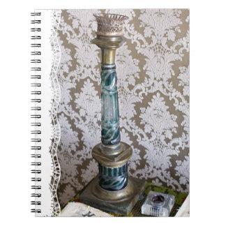 Vintage glass candleholder notebook