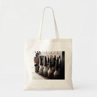 Vintage Glass Oil Bottles-Antique Repair Shop Tote Bag