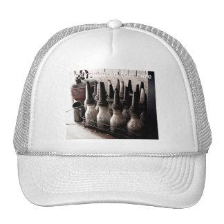 Vintage Glass Oil Bottles-Antique Repair Shop Trucker Hat