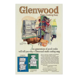 Vintage Glenwood Stove Ad from 1923 Poster