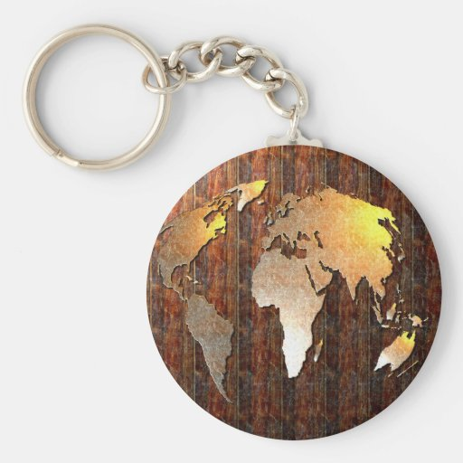 Vintage Globe Key Chains