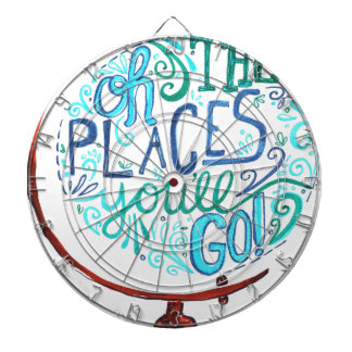 Vintage Globe - Oh The Places You'll Go Dartboard