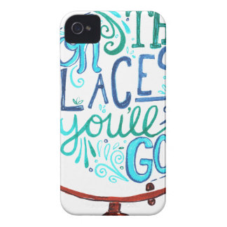 Vintage Globe - Oh The Places You'll Go iPhone 4 Cases