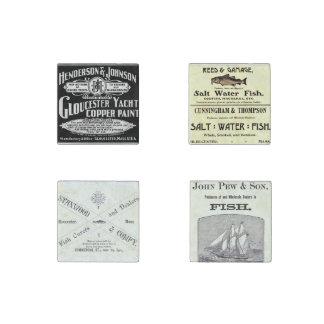Vintage Gloucester Fish Stone Magnet Set